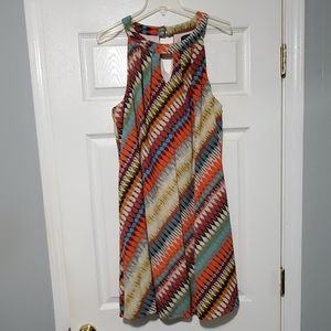 Multi color shift dress size 2x